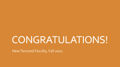 Congratulations Newly Tenured Faculty Fall 2021